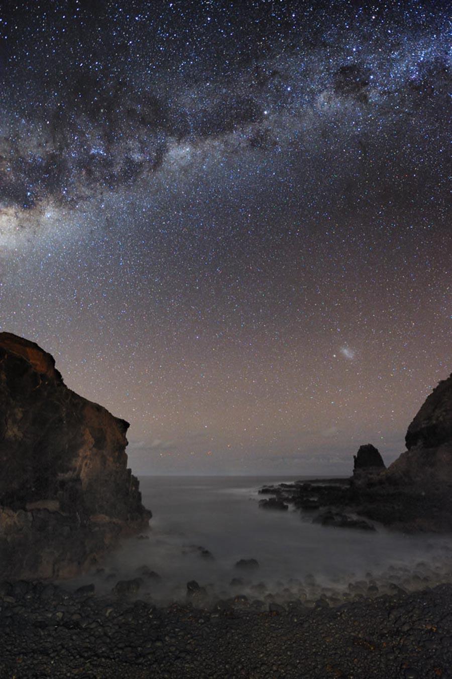 La Vía Láctea sobre Pulpit Rock