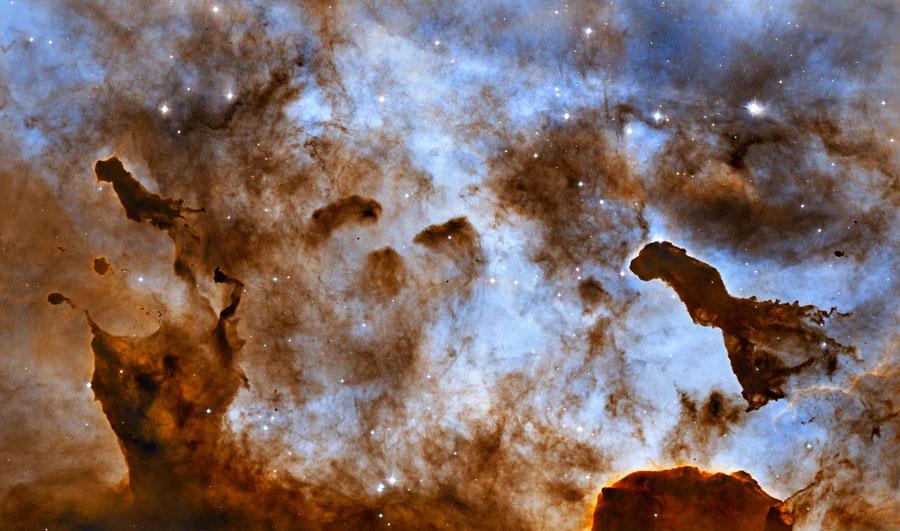 Las nubes oscuras de la Nebulosa Carina