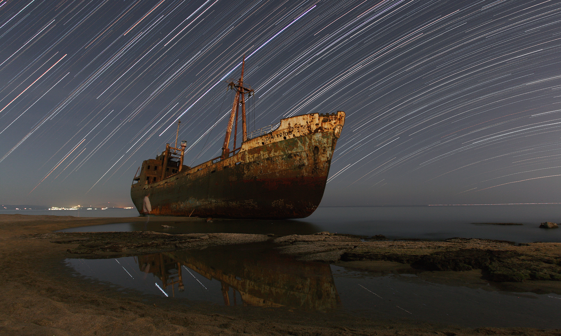 Star Trails and the Captain's Ghost Credit & Copyright: Chris Kotsiopoulos (GreekSky)