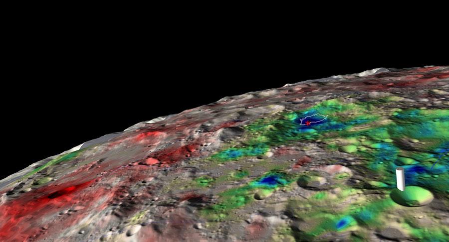 Se detecta agua helada bajo la superficie lunar