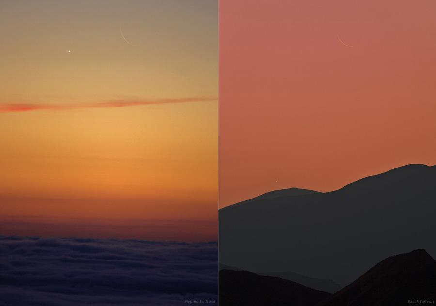 [摘译]每日天文一图 - 两个月牙儿 (2010年11月11日) - 秋天的麦兜 - 蜗牛壳