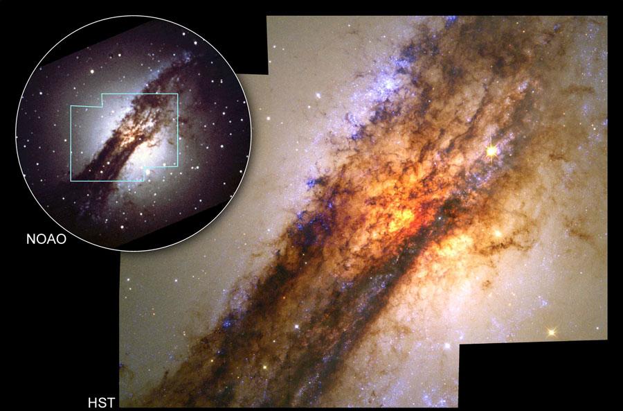 [摘译]每日天文一图 - 半人马座A的星系核心 (2010年11月7日) - 秋天的麦兜 - 蜗牛壳
