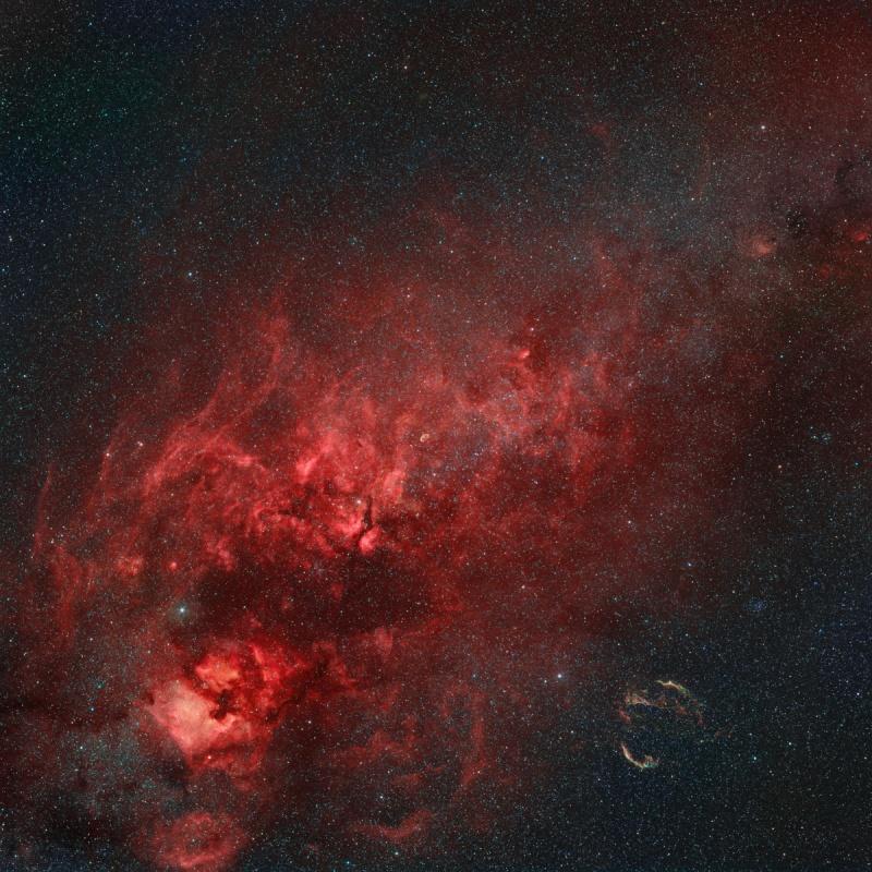 Nebulosas en la Cruz del Norte
