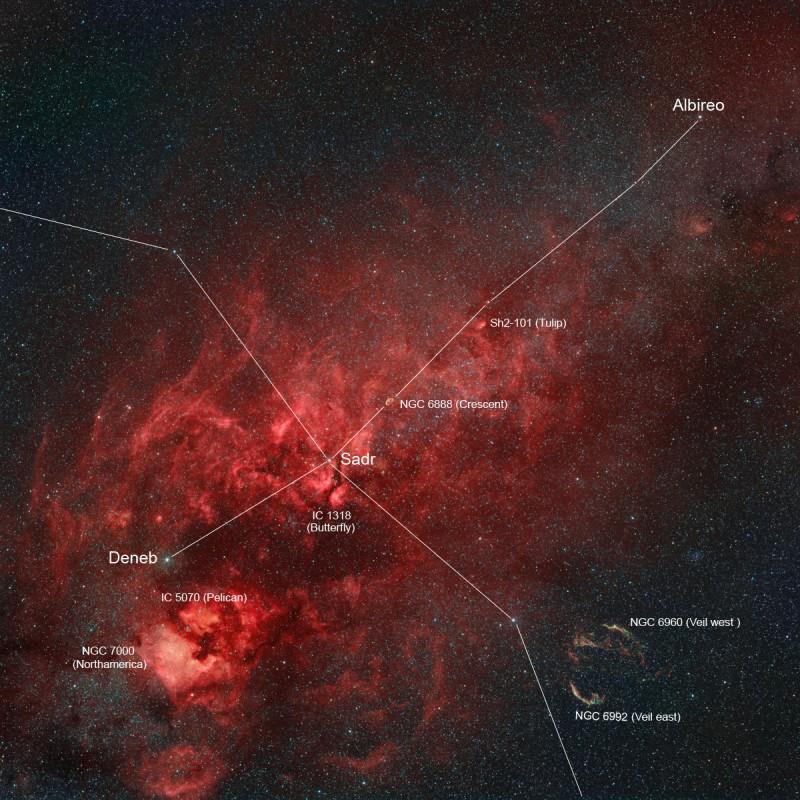 [摘译]每日天文一图 - 北十字座中的星云(2010年11月19日) - 秋天的麦兜 - 蜗牛壳