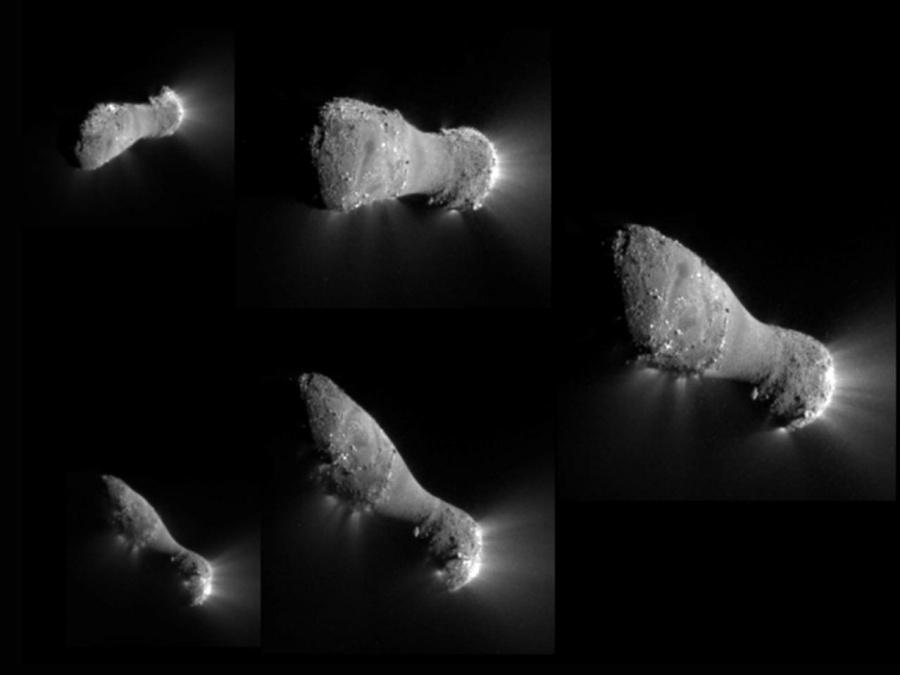 Sobrevolando el Cometa Hartley 2