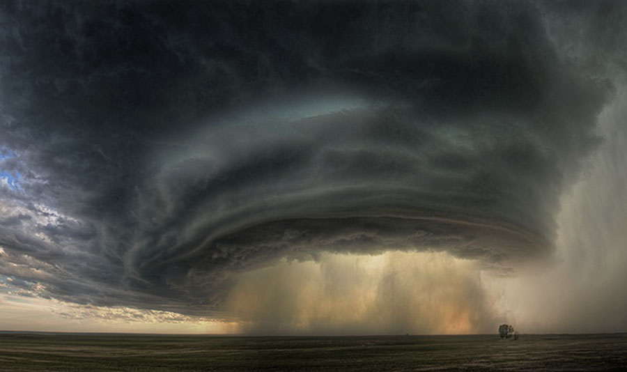 A Supercell Thunderstorm Cloud Over Montana, photo by Sean R. Heavey