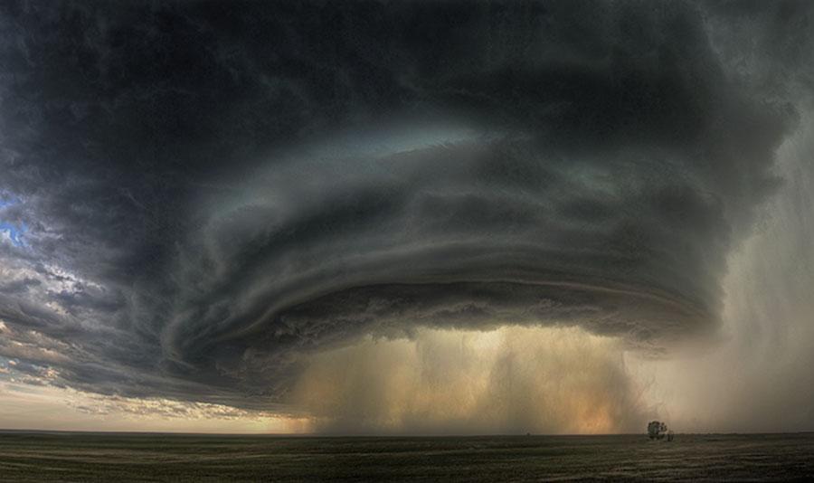 Nube de supercélula sobre Montana