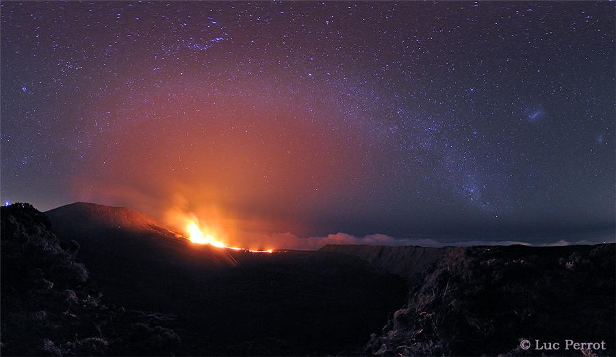 La Vía Láctea sobre el Pico de la Caldera