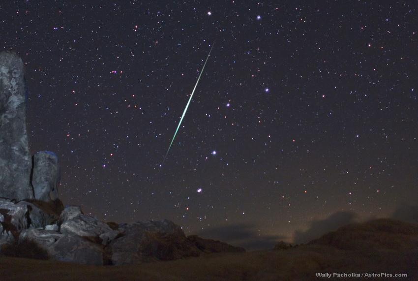 Meteoro en el cielo del desierto