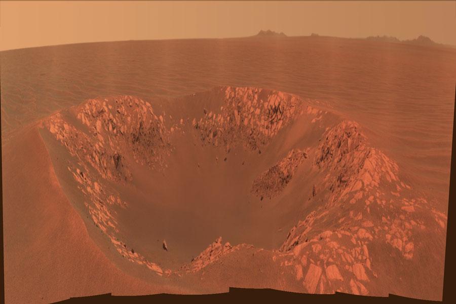 Cráter Intrépido en Marte