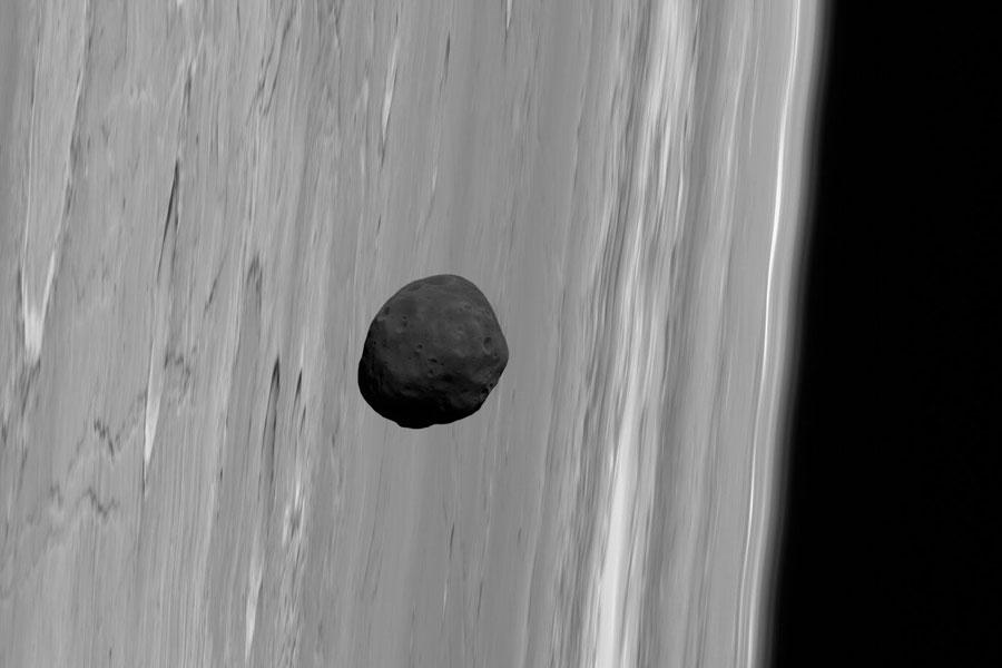 Luna marciana Fobos desde la Mars Express