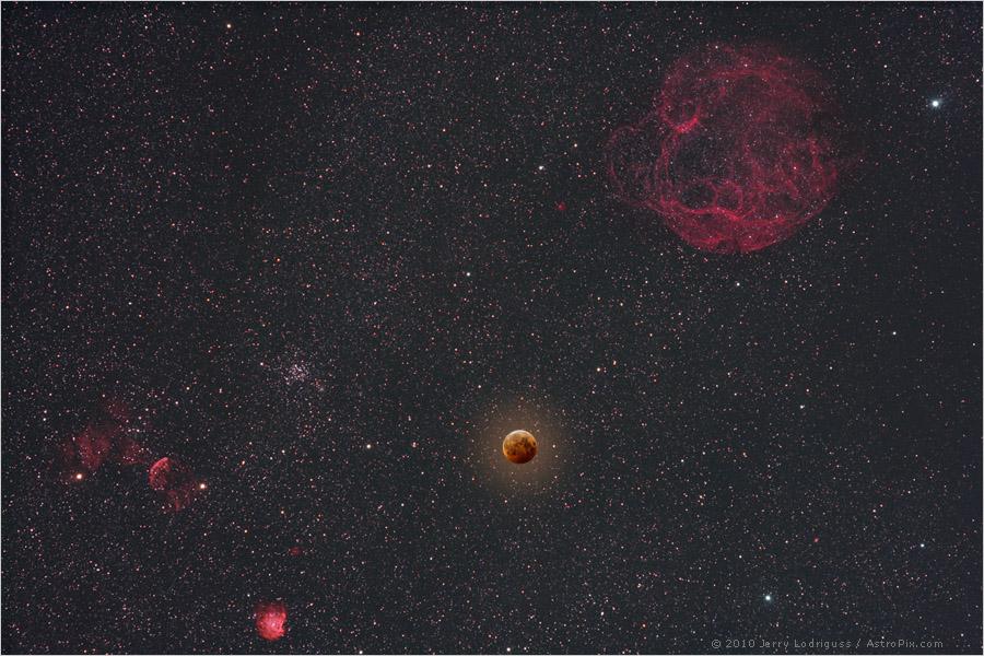 Un eclipse lunar en el día del solsticio