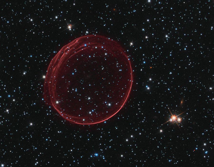 Los ondulados lazos rojos de SNR 0509