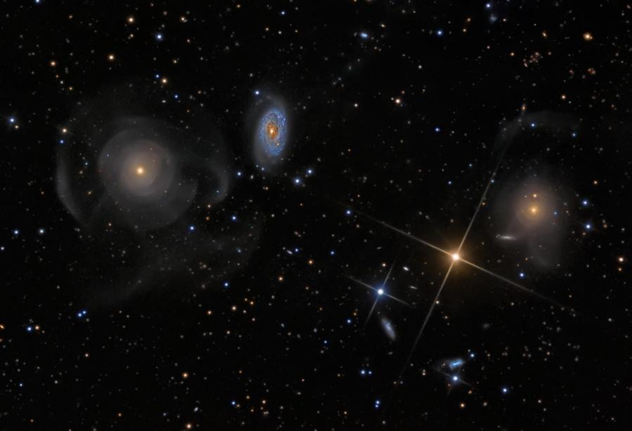 Galaxias Concha en Piscis