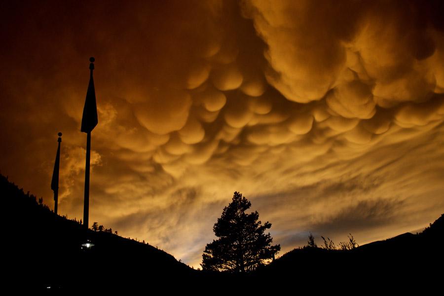 Nubes Mammatus sobre Olympic Valley
