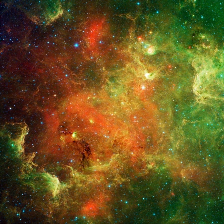 Nebulosa Norte América en infrarrojo