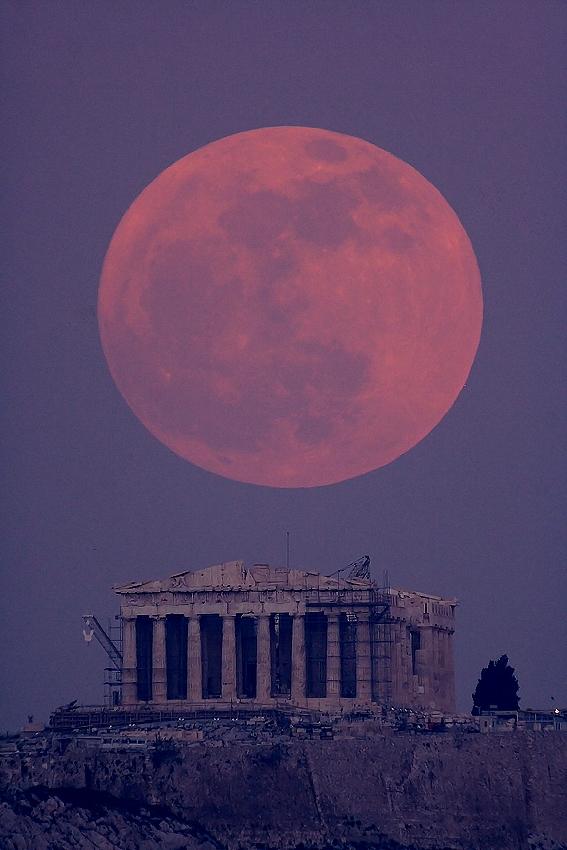 Luna y Partenón
