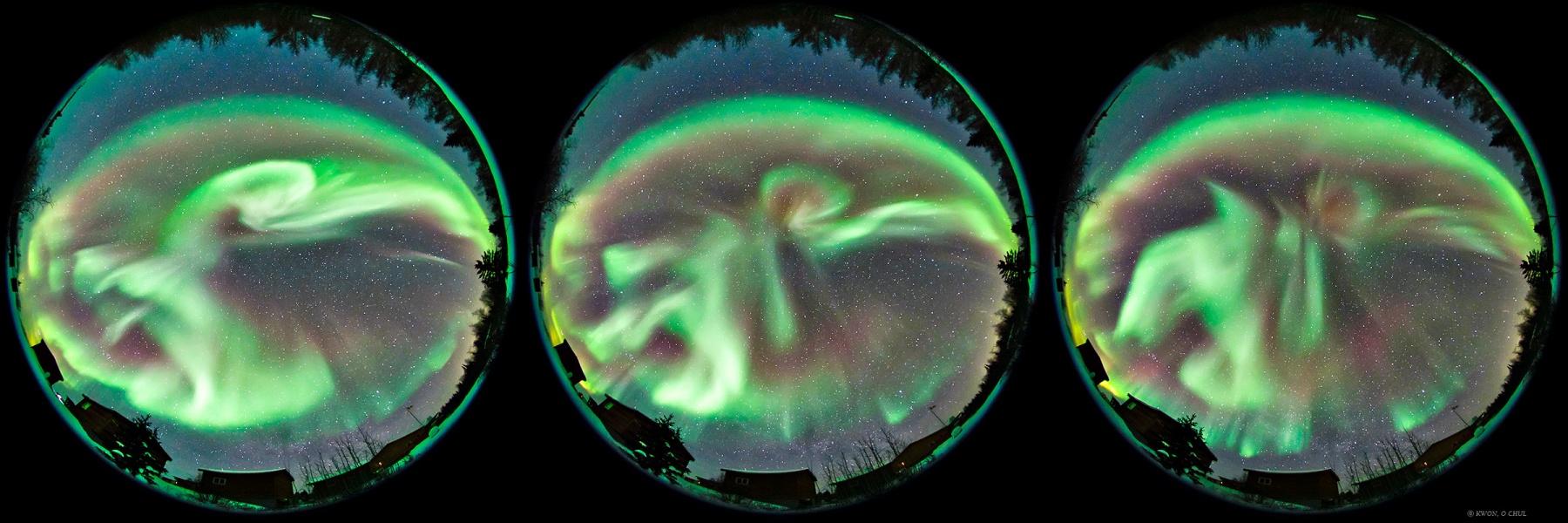 Subtormenta Auroral sobre Yellowknife