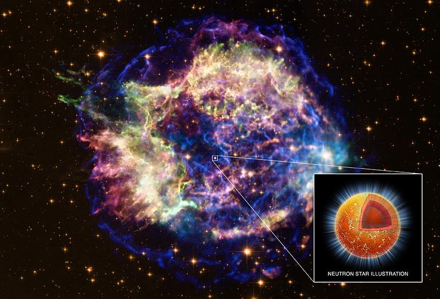 Una estrella de neutrones enfriándose
