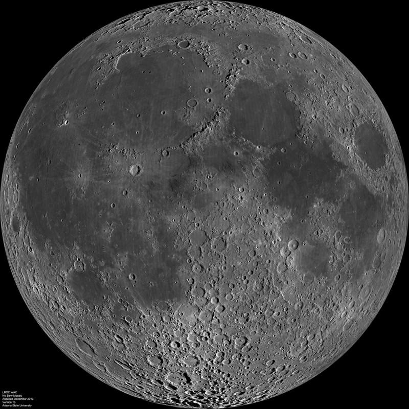 La cara cercana de la Luna