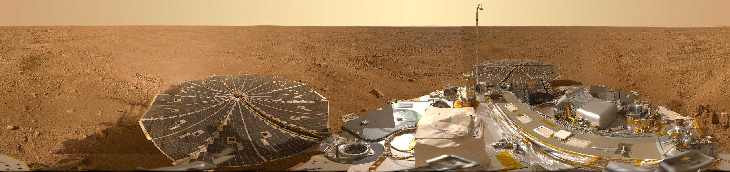 Panorámica de Marte desde Phoenix Lander