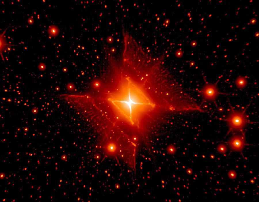 MWC 922: Nebulosa Cuadrada Roja