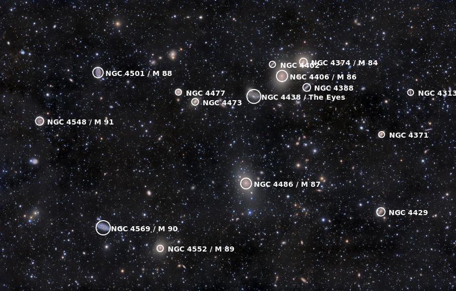 Ảnh: Đám thiên hà Virgo