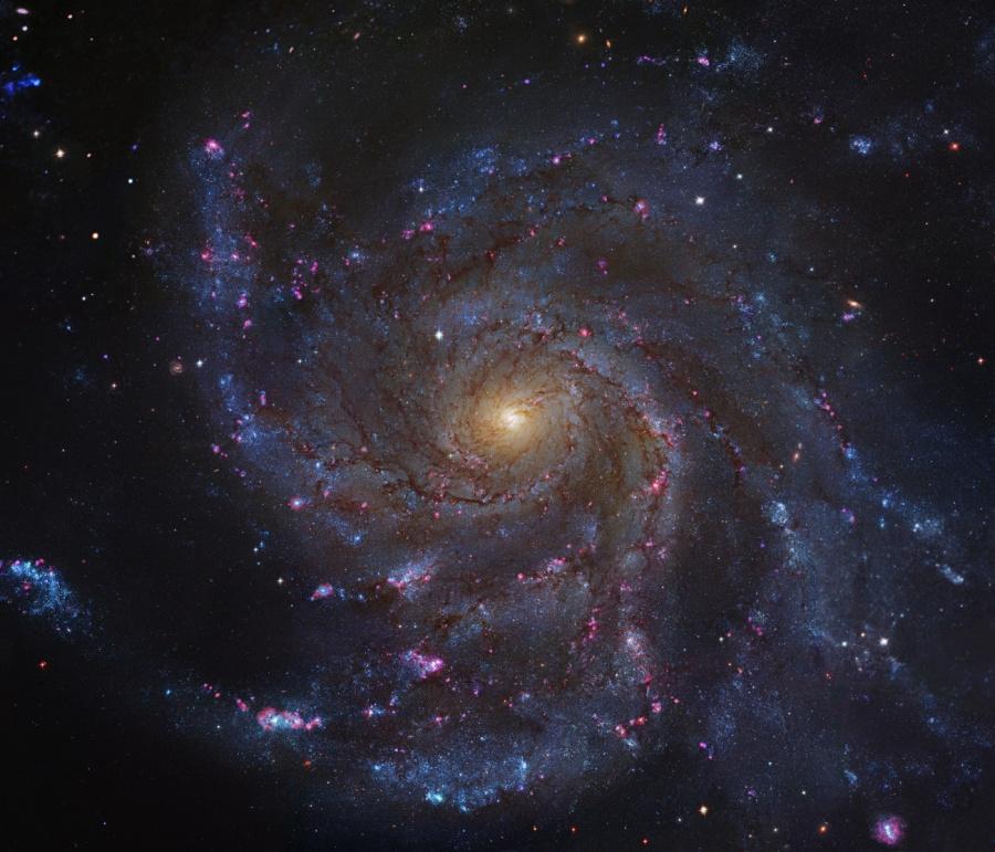 风车星系M101(2011年4月15日)- 每日天文一图摘译 - 秋天的麦兜 - 蜗牛壳