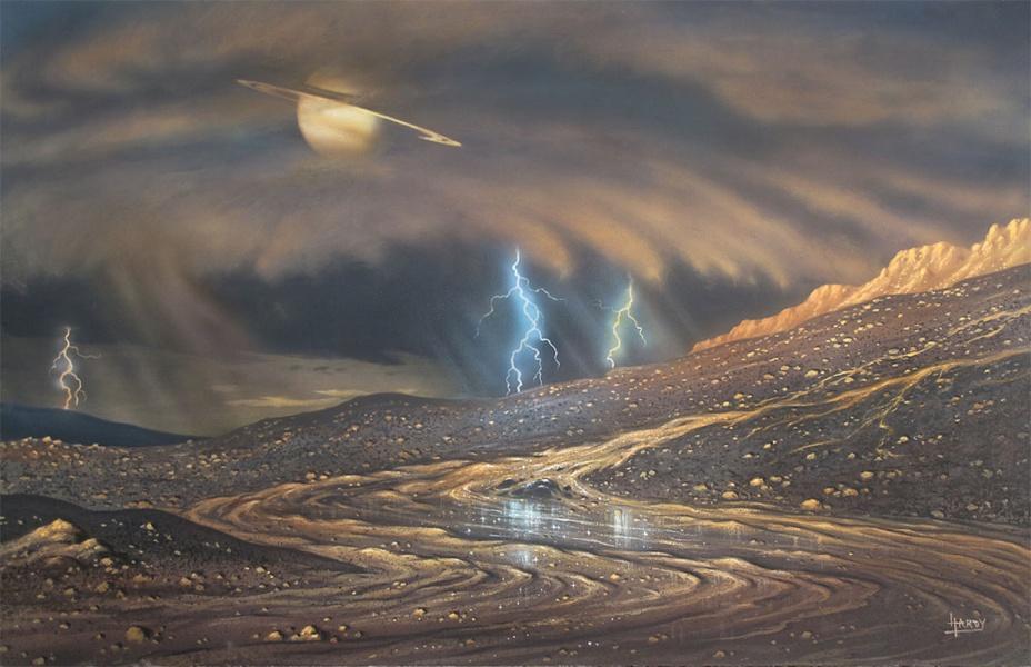 Ảnh: Mưa trên vệ tinh Titan