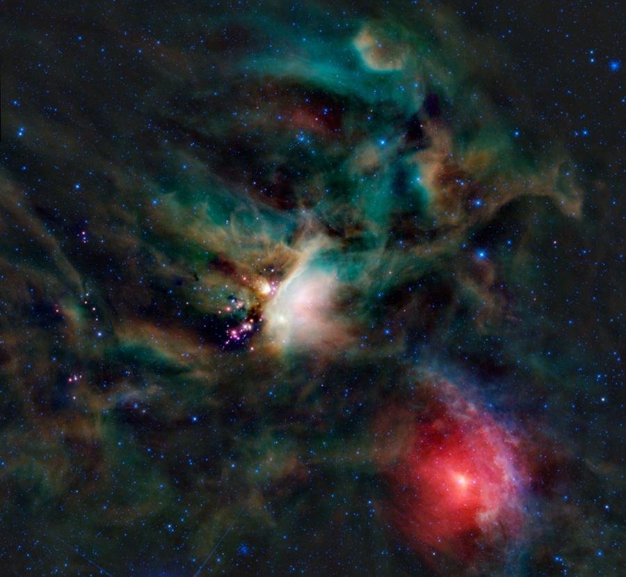 Estrellas jóvenes en la Nube Rho Ophiuchi