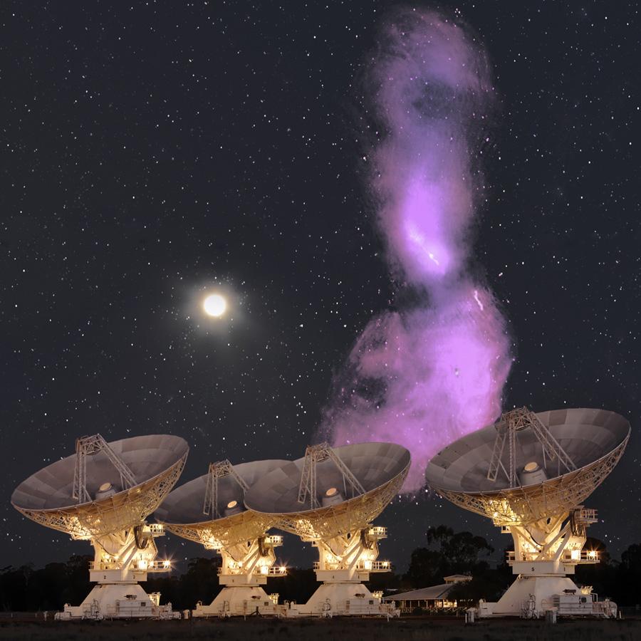 Amanecen los chorros de radio de Centaurus