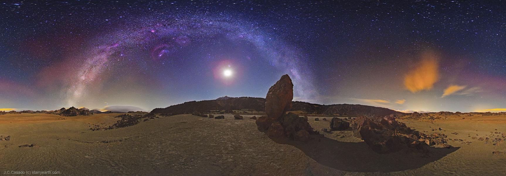 La Vía Láctea sobre Tenerife