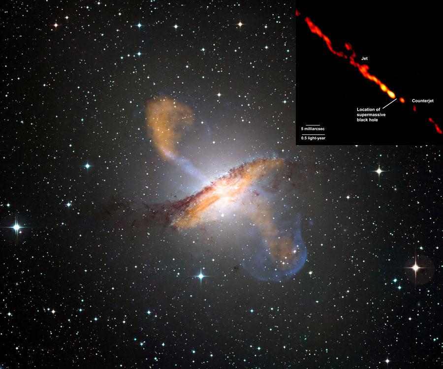 Chorros de la inusual galaxia Centaurus A