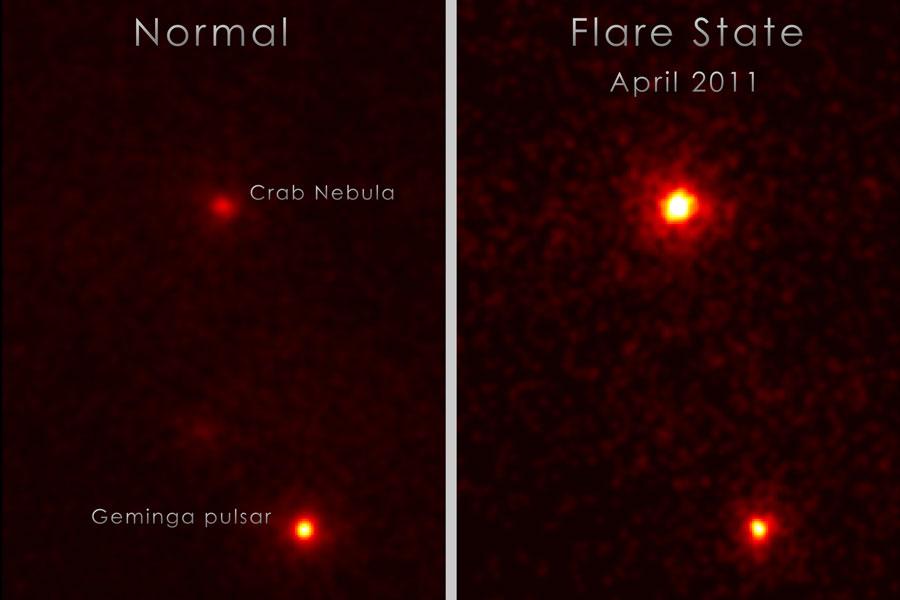 Un destello inesperado desde la Nebulosa del Cangrejo