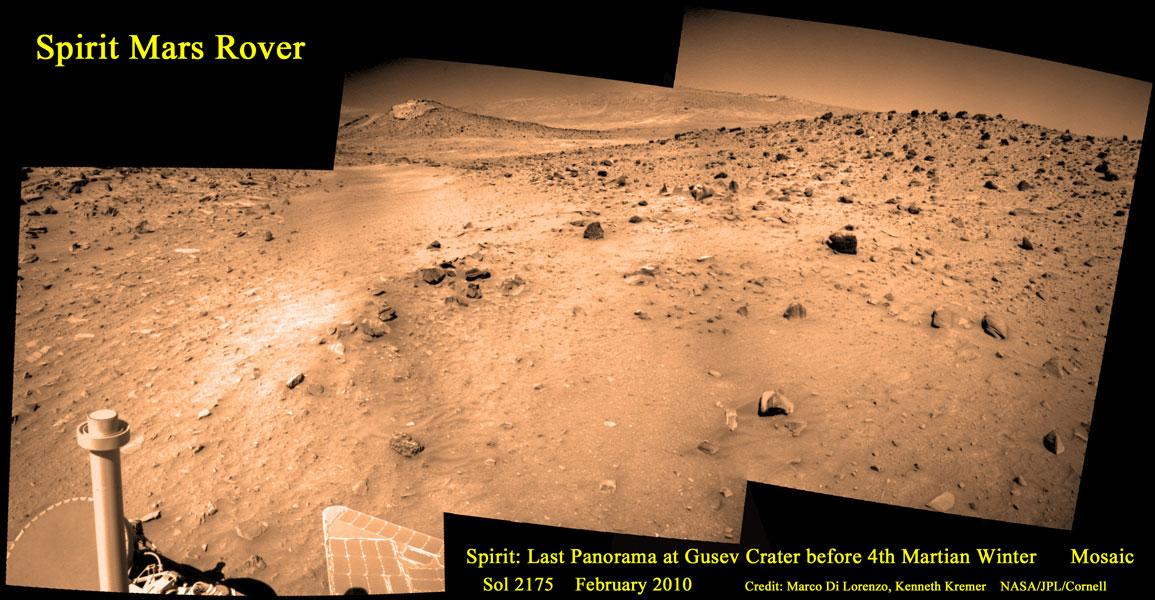 Último vistazo del todoterreno Spirit en Marte