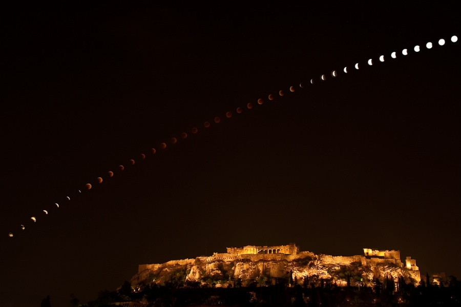 Eclipse sobre la Acrópolis
