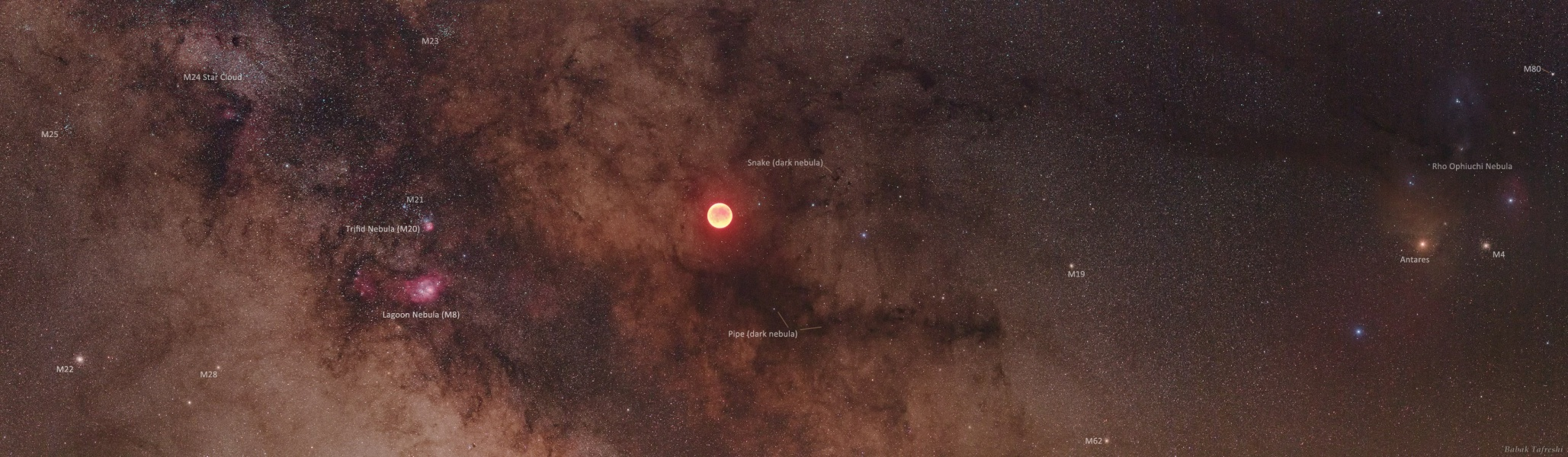 闭月挥袖走银河(2011年6月17日)- 每日天文一图摘译 - 秋天的麦兜 - 蜗牛壳