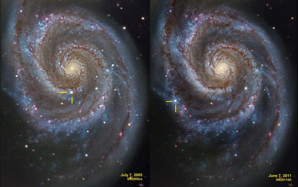 Supernovas en el Remolino