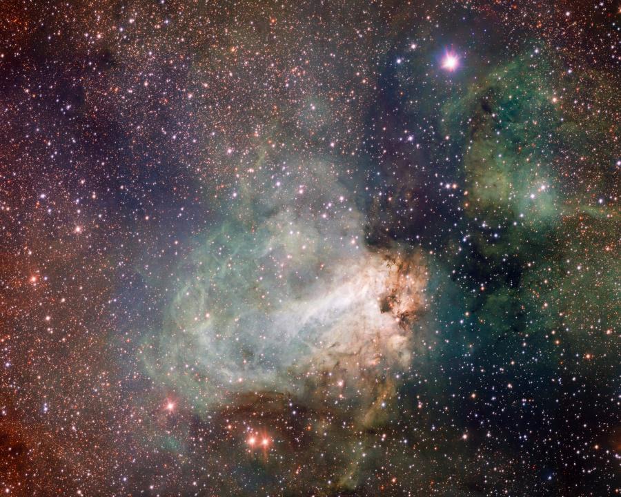 Fábrica de estrellas en Messier 17