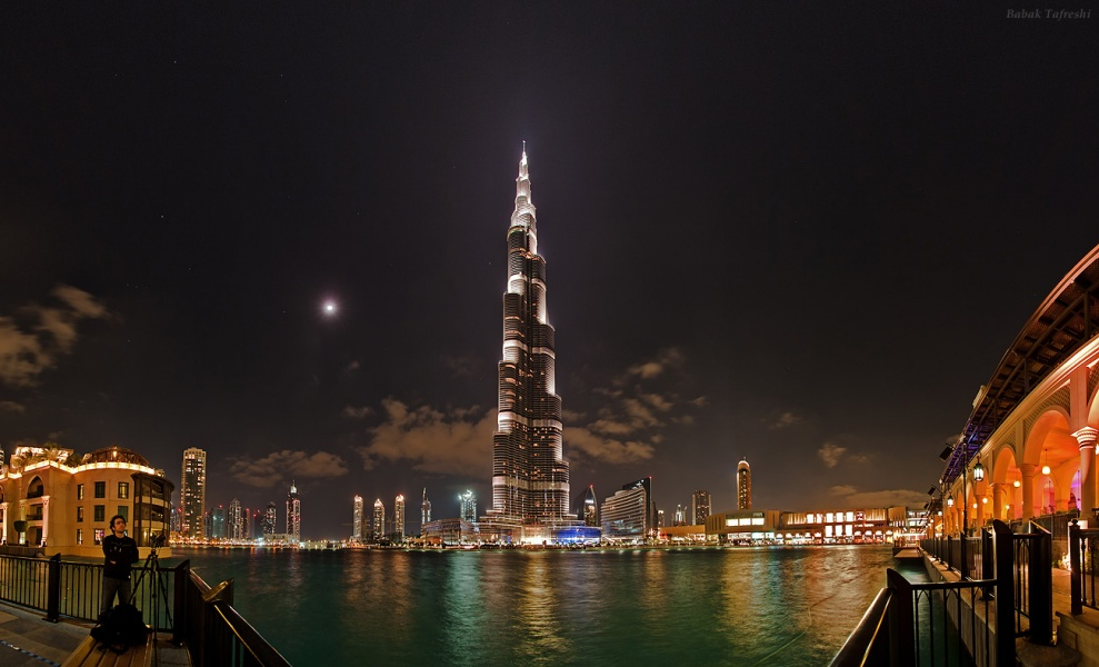 Noche estrellada sobre Dubai