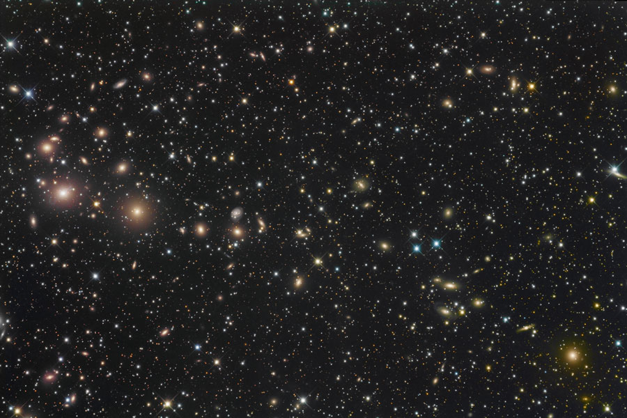 Kupa galaxií v  Perseu