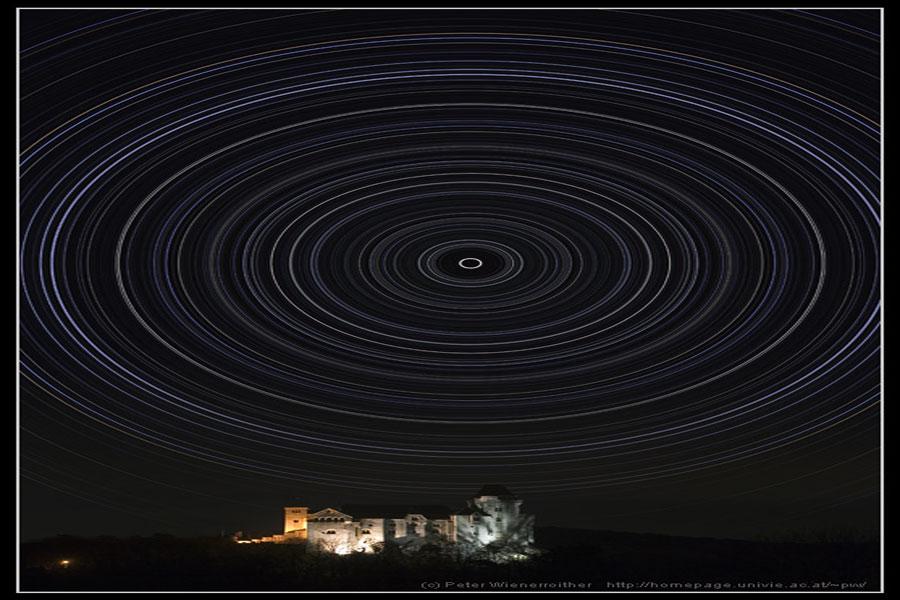 El reto de Lewis: rastros de estrellas de 360 grados