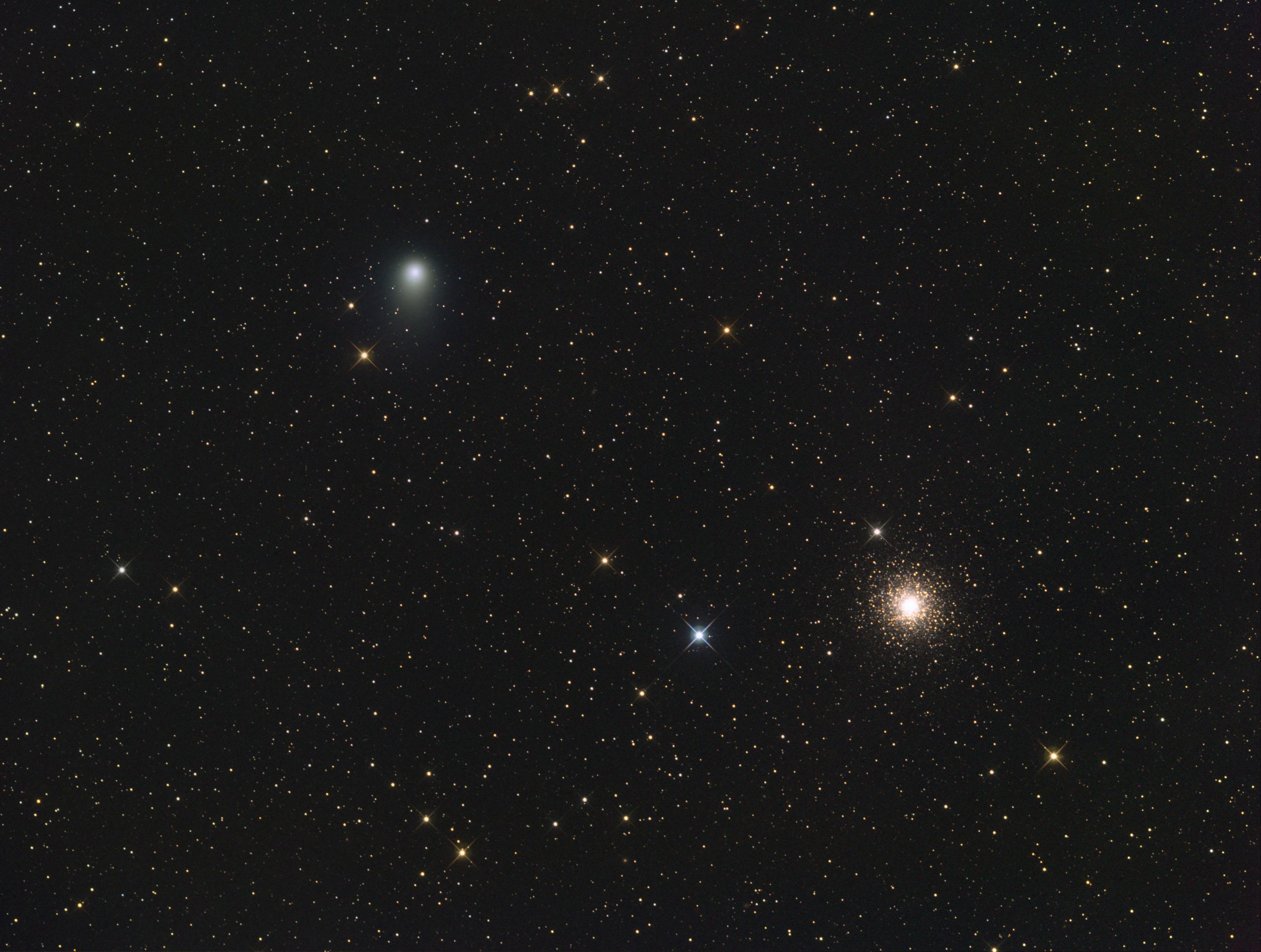 Apod 2011 August 6 Comet Garradd And Messier 15