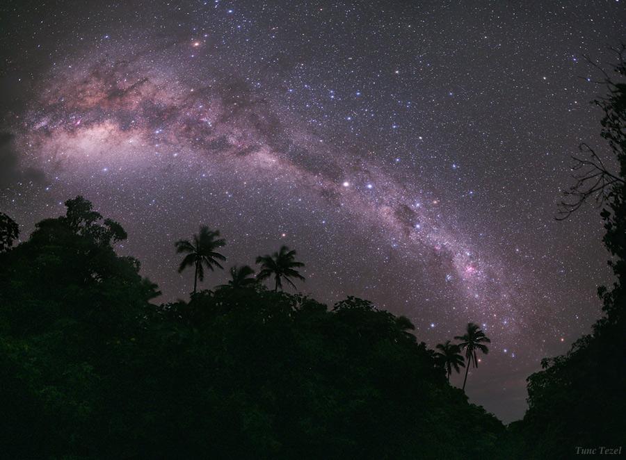 Vía Láctea en Mangaia