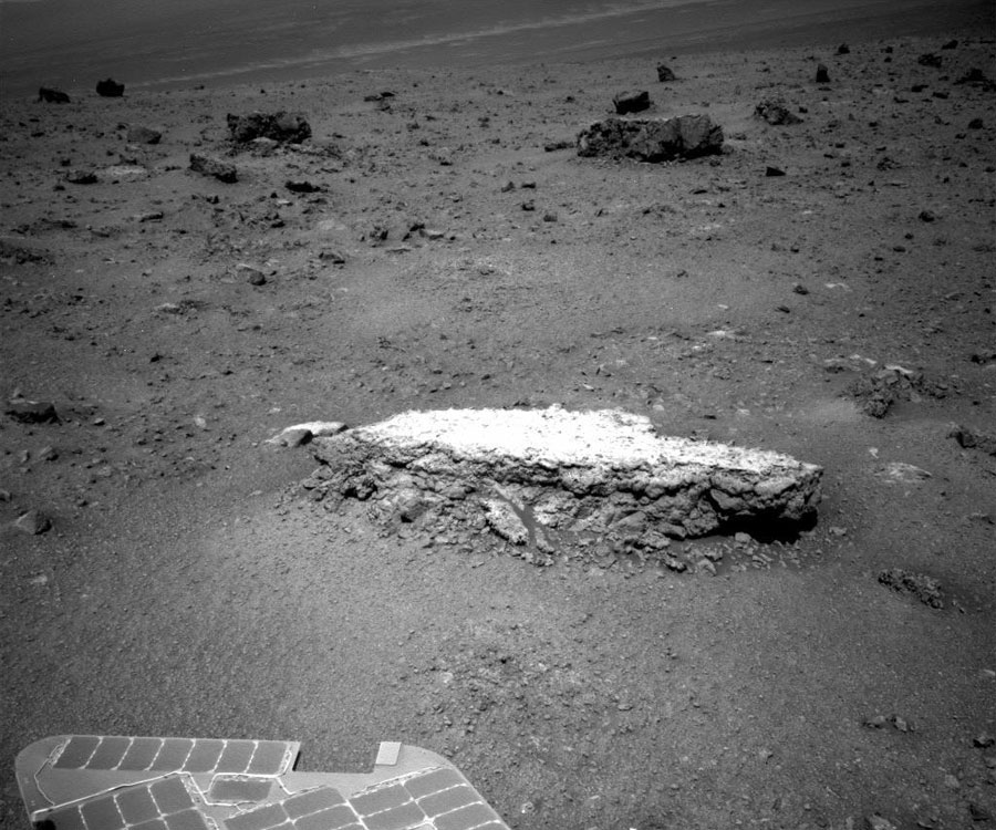 Formación rocosa Tisdale 2 en Marte