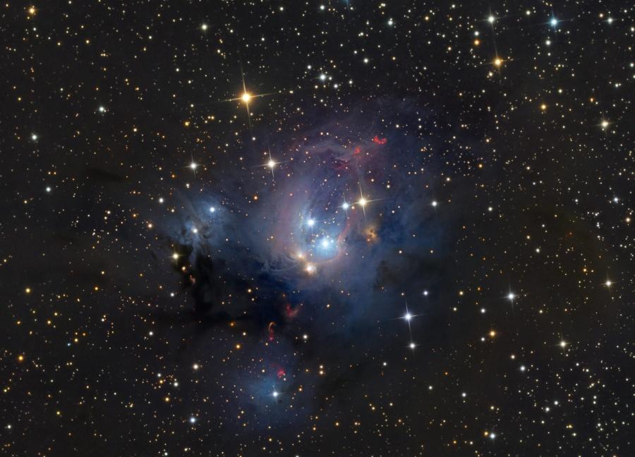 Los soles jóvenes de NGC 7129