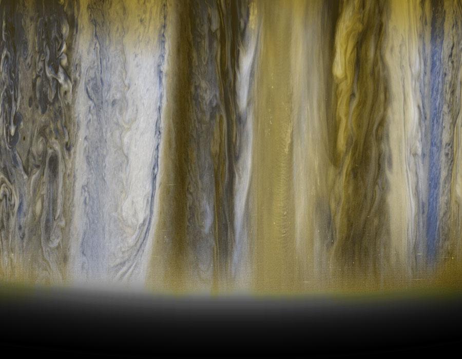 Nubes de Júpiter desde la New Horizons