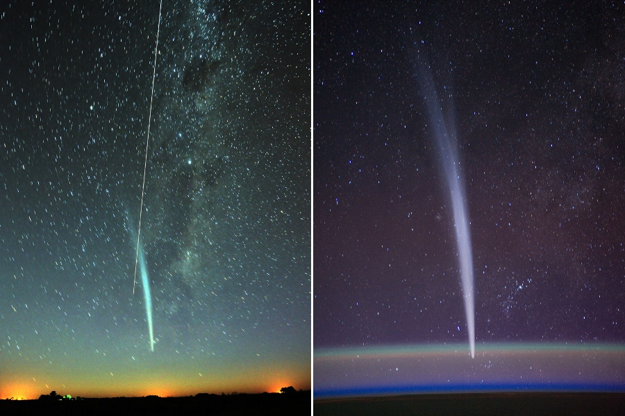 El cometa Lovejoy y la Estación Espacial Internacional