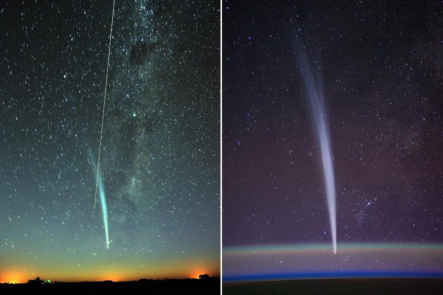 El cometa Lovejoy y la Estación Espacial Internacional