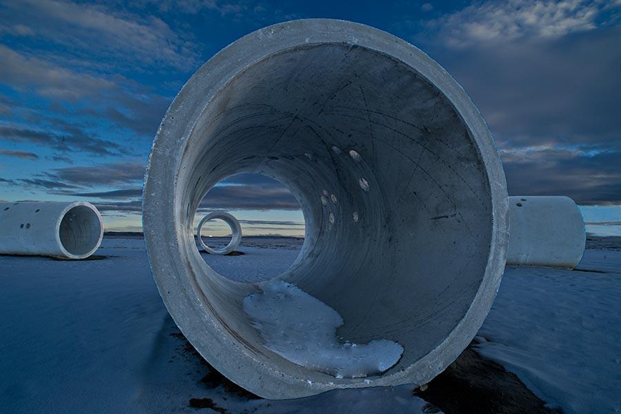 A través de un Túnel de Sol